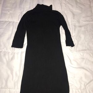 Black mockneck tight dress